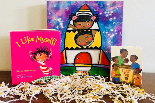 Three children's books with diverse characters from Jambo Book Club.