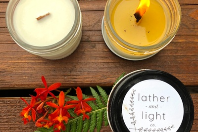 Soy Wax Candle Trio scented with Essential Oils Photo 1