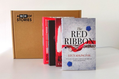 Monthly Fiction Box of 4 Surprise Books - Mystery Book Gift Box For Book Lovers Photo 1
