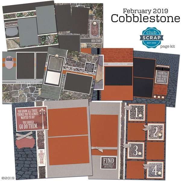 February 2019 - Cobblestone Page Kit