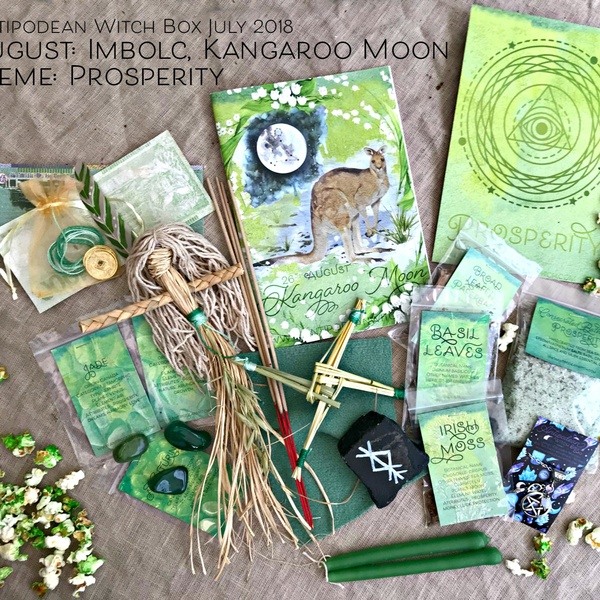 July 2018 - August 2018 Moons, The Kangaroo Moon / Imbolc. Theme: Prosperity