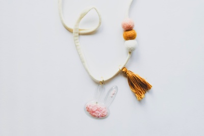 Girls Handcrafted Woolie Ball Necklace of the Month Photo 3
