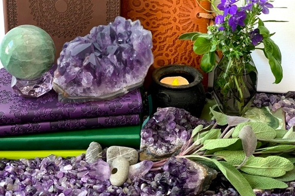 Sage and Amethyst