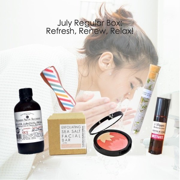 July 2018 - Refresh, Renew and Relax Themed Box