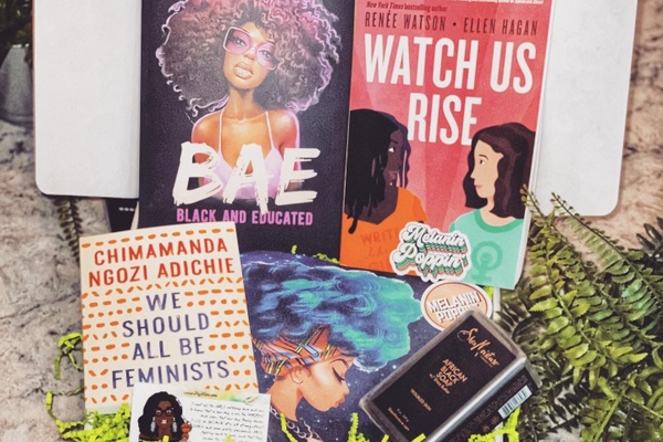 BlackLIT subscription box featuring books from black authors.